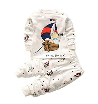 d7fc783c4 Bold N Elegant Cool Printed Bear Scooby Dooby Panda Animal Cartoon Printed  Twin Set Little Boy Girl Two Piece Set Full Length Set Tshirt Pant Set for  Baby ...