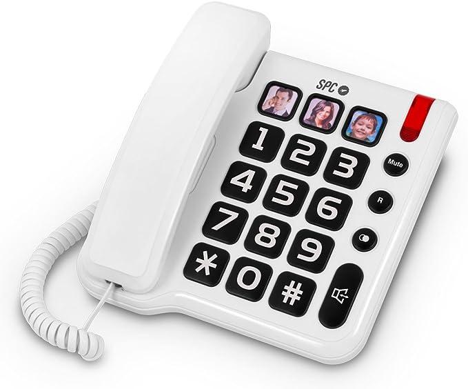 SPC Comfort Numbers teléfono Fijo con números Grandes y Tres Fotos con memorias directas Incluye Manos Libres: Spc-Telecom: Amazon.es: Electrónica