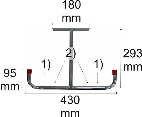 Connex DY222002 - Soporte de techo (180 x 95 x 430 x 293 mm, galvanizado): Amazon.es: Bricolaje y herramientas