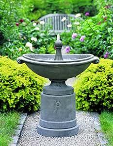 Campania International Medici Ellipse Cast Stone Outdoor Fountain English Moss - FT-53-EM