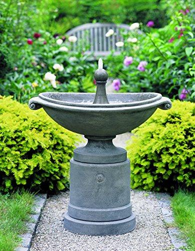 Campania International FT-53-GS Medici Ellipse Fountain, Grey Stone Finish ()