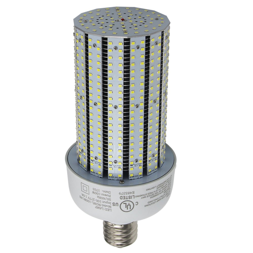 400w Metal Halide Lamp To Led: NGTlight AC90-277V,100 Watt LED Corn Cob Light Replace