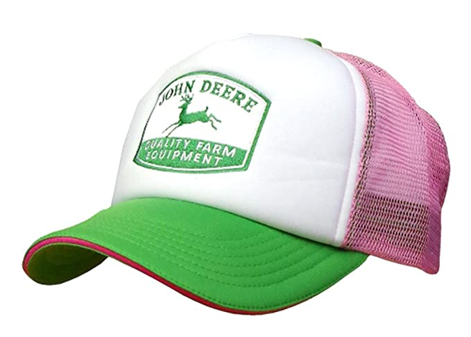 4af68d4aba33c3 Image Unavailable. Image not available for. Color: John Deere Women's Foam  Front Mesh Trucker Hat Pink