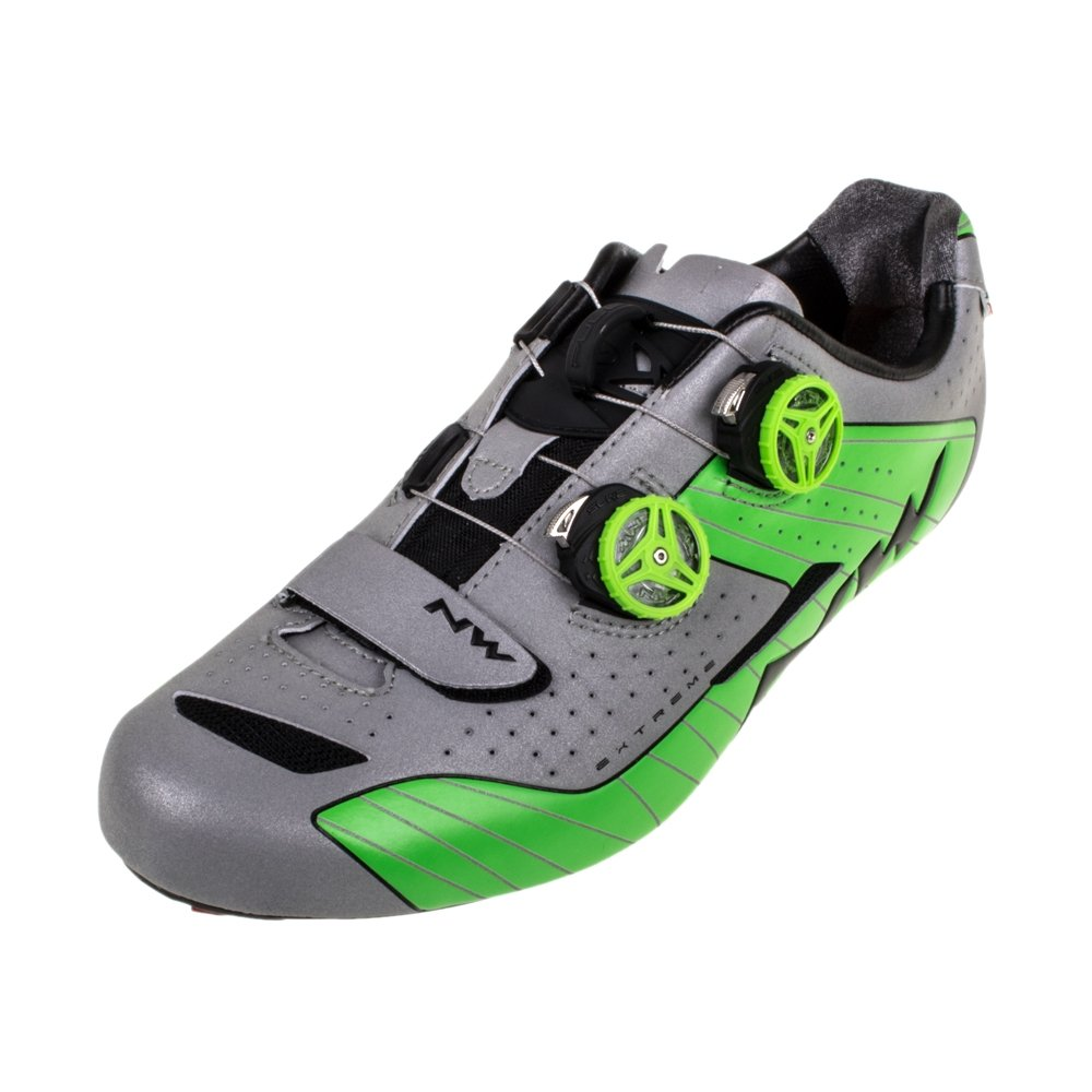 Northwave Extreme Road shoes Silver/Green- 44.5 by Northwave