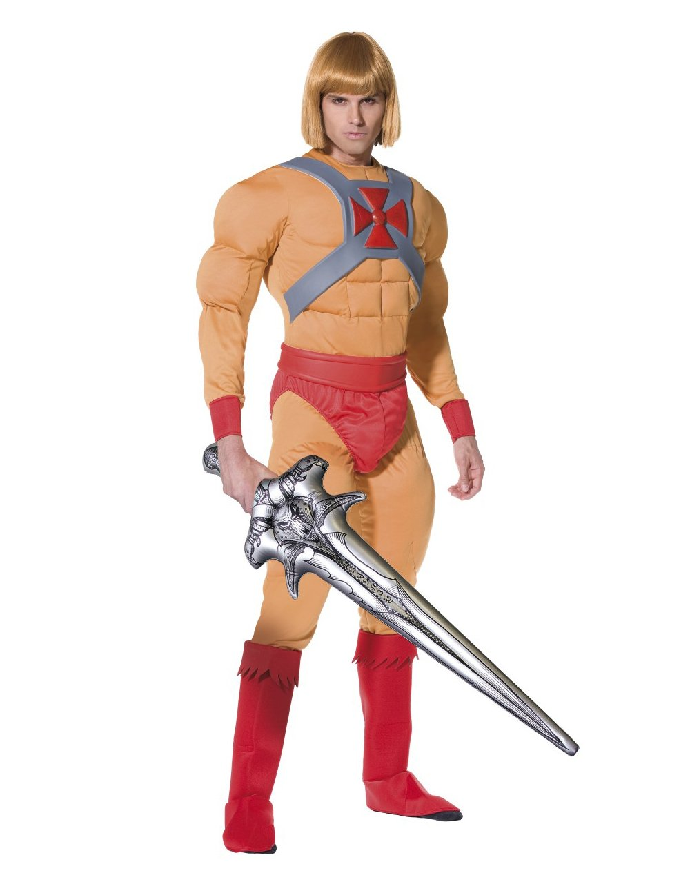 He Man/Prince Adam Costume, Muscle Jumpsuit with Belt, Cuffs ...