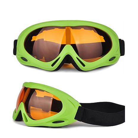 WDAKOWA Sci Anti-nebbia Windbreak Uomini E Donne Adulto Occhiali Bambini Outdoor Alpinismo Equitazione Occhiali Da Sole,RedAndBlue