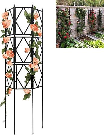 PLHMS Jardín Enrejado para Plantas trepadoras, Enrejado de Alambre de Metal de cuadrícula Paneles de Valla vides Panel para Plantas trepadoras w/Finial, para Rose Vines Clematis Soporte,120cm: Amazon.es: Hogar