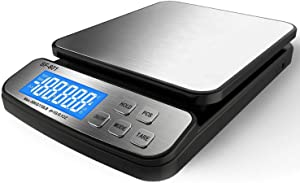 110 LB 50KG Digital Postal Scale, MOCCO Heavy Duty Stainless Steel Multifunctional Shipping Scale 0.1oz / 1g Accuracy with Large Base Counting Function for UPS USPS Floor Bench Office Weight