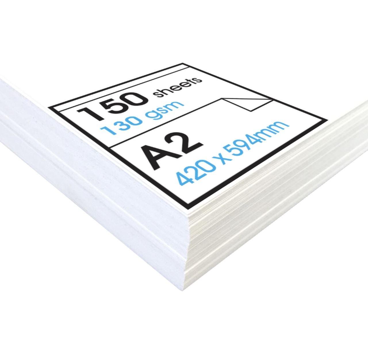 Blanc A2 - 150 feuilles Artway Studio - Papier voituretouche à dessin - sans acide - feuilles parfaites pour techniques sèches - 130 g m² - A2 (1500 feuilles)