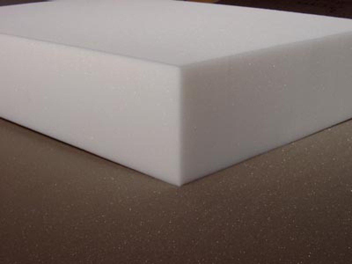 Schaumstoff Rückenpolster Schaumgummi Polsterplatte Zuschnitt RG35 – 206 x 90 x 12cm