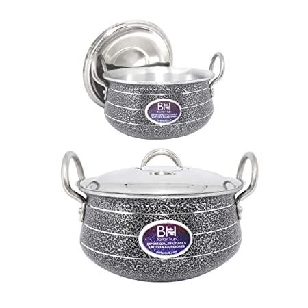 Bartan Hub Pot/Handi Set with Lid  1500ml,3500ml
