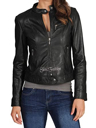 6dbde81e0fe Womens Leather Jacket Stylish Motorcycle Biker Genuine Lambskin 175 at  Amazon Women s Coats Shop
