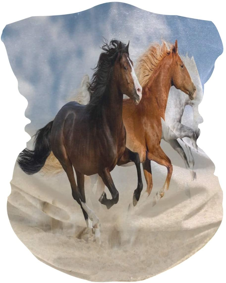 Alarge - Pañuelo para la cabeza suave y divertido, diseño de caballo africano, transpirable, máscara de protección solar, pasamontañas para niños, niñas y niños