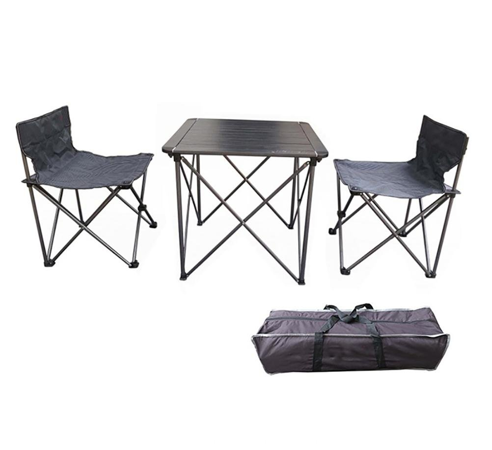 Ruirui Aluminium Liegestühle setzt Outdoor-Camping tragbare Klapptisch