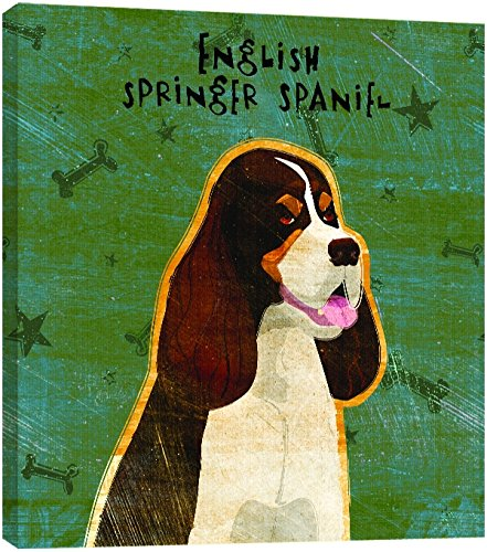 Tree-Free Greetings 84013 Eco Art Wall Plaque, 11.25 by 11.25 by 0.5-Inch, Tri-Color English Springer Spaniel