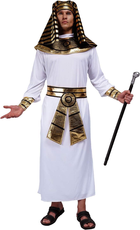 SEA HARE Disfraz de Faraón Egipcio para Hombre (Blanco): Amazon.es ...