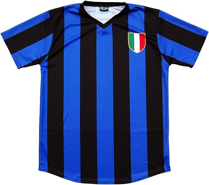 Inter de Milán Retro # 10 Fútbol Jersey - Multi -: Amazon.es: Ropa ...