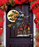 G.DeBrekht Halloween Witch Wooden Indoor/Outdoor Hanging Door Decoration, Wall Sign, For Home, School, Office, Party #8114010H