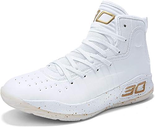 GJRRX Uomo Sportive Scarpe da Basket Hi-Top Scarpe da Ginnastica Outdoor Scarpe da Corsa Moda Scarpe da Sport Antiscivolo Collo Alto Casual Scarpe da Running Lace Up Grande Taglia 36-45