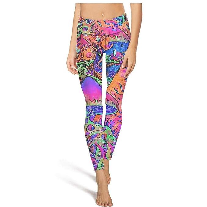 Amazon.com: Pantalones de yoga para mujer con tríptico y ...