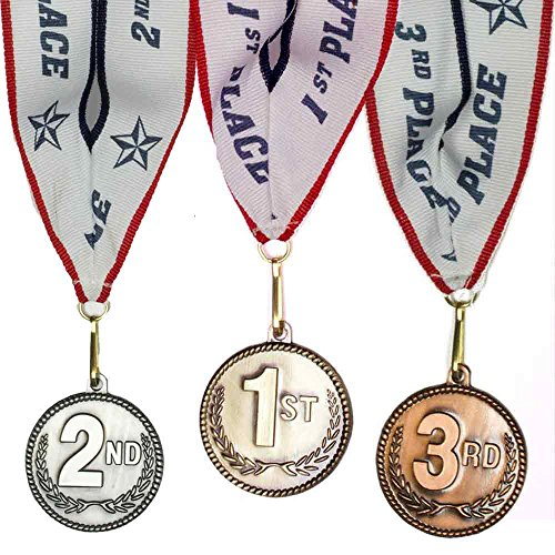 1st 2nd 3rd Place High Relief Award Medals - 3 Piece for sale  Delivered anywhere in USA