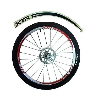 [negro] XTR 12 fotos de color único fresco bicicleta llanta rueda adhesivo pegatina: Amazon.es: Deportes y aire libre