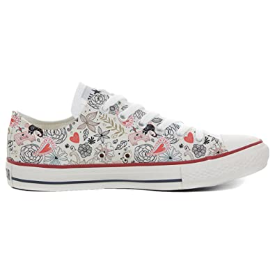 Converse All Star Slim personalisierte Schuhe (Handwerk Produkt) Delicate  32 EU
