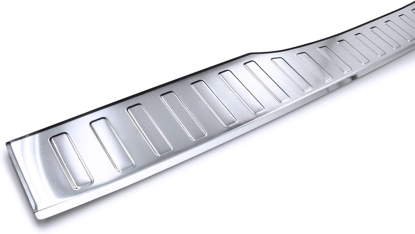 teileplus24 AL114 Protection de seuil de Coffre Aluminium Couleur:Argent