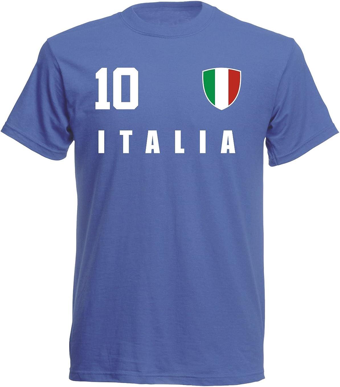 aprom Camiseta de fútbol de Italia, deporte, Royal Mundial ALL-10: Amazon.es: Ropa y accesorios