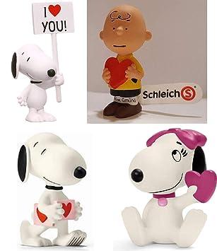 Set Von 4 Figuren 5cm Peanuts In Love In Der Liebe Valentinstag