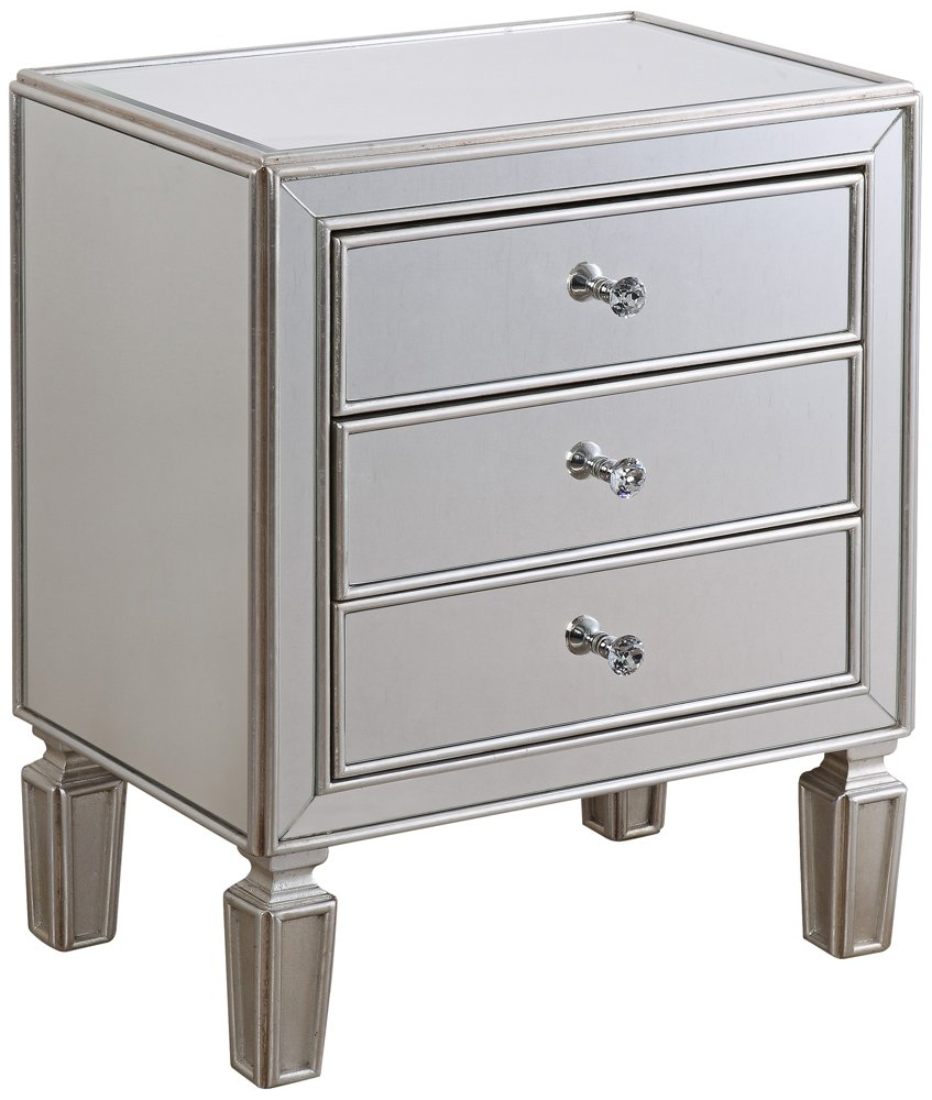 Elegant Amazon.com: Aneta Hand Painted Silver Leaf Accent Table: Kitchen U0026 Dining