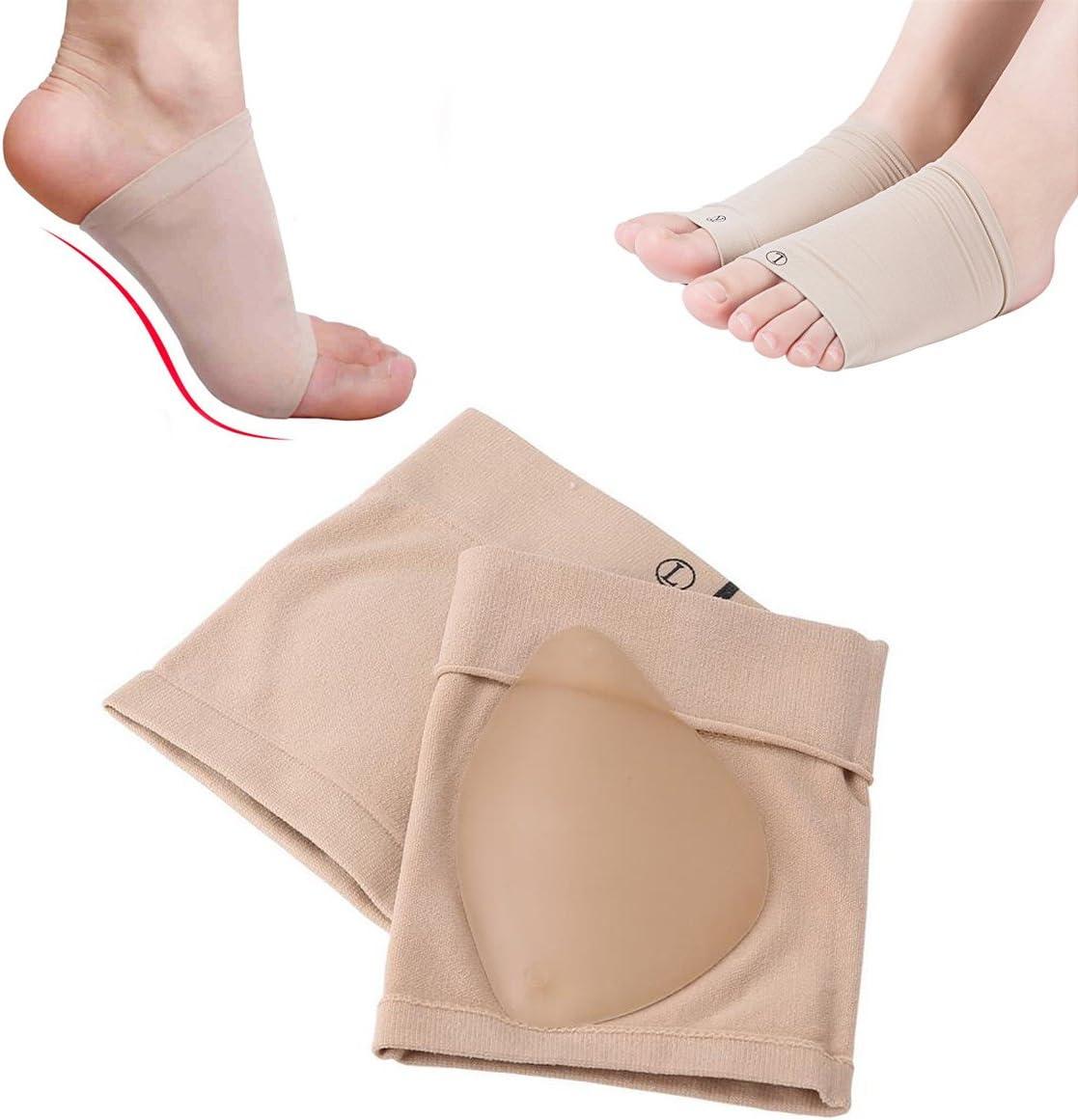 Manga de soporte de arco de gel de silicona – Pronation ortopédica plantilla de pie plano, cómodo masaje amortiguador de impactos, para fascitis plantar, alivio del dolor en el arco del talón