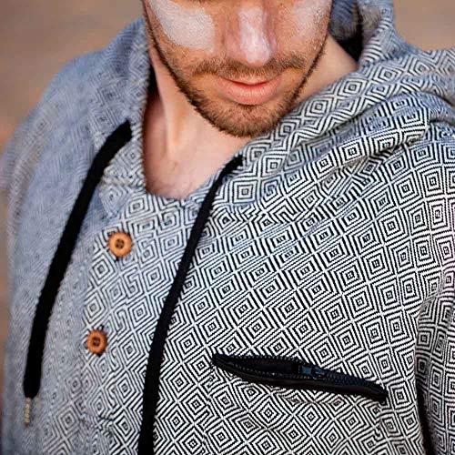 Surf Poncho - Adult Hooded Towel | Grey Black Turkish Towel Poncho | Changing Poncho, Changing Robe, Surf Robe, Wetsuit Changing Robe | Swim Parka, Wetsuit Poncho, Wetsuit Robe, Hooded Changing Towel