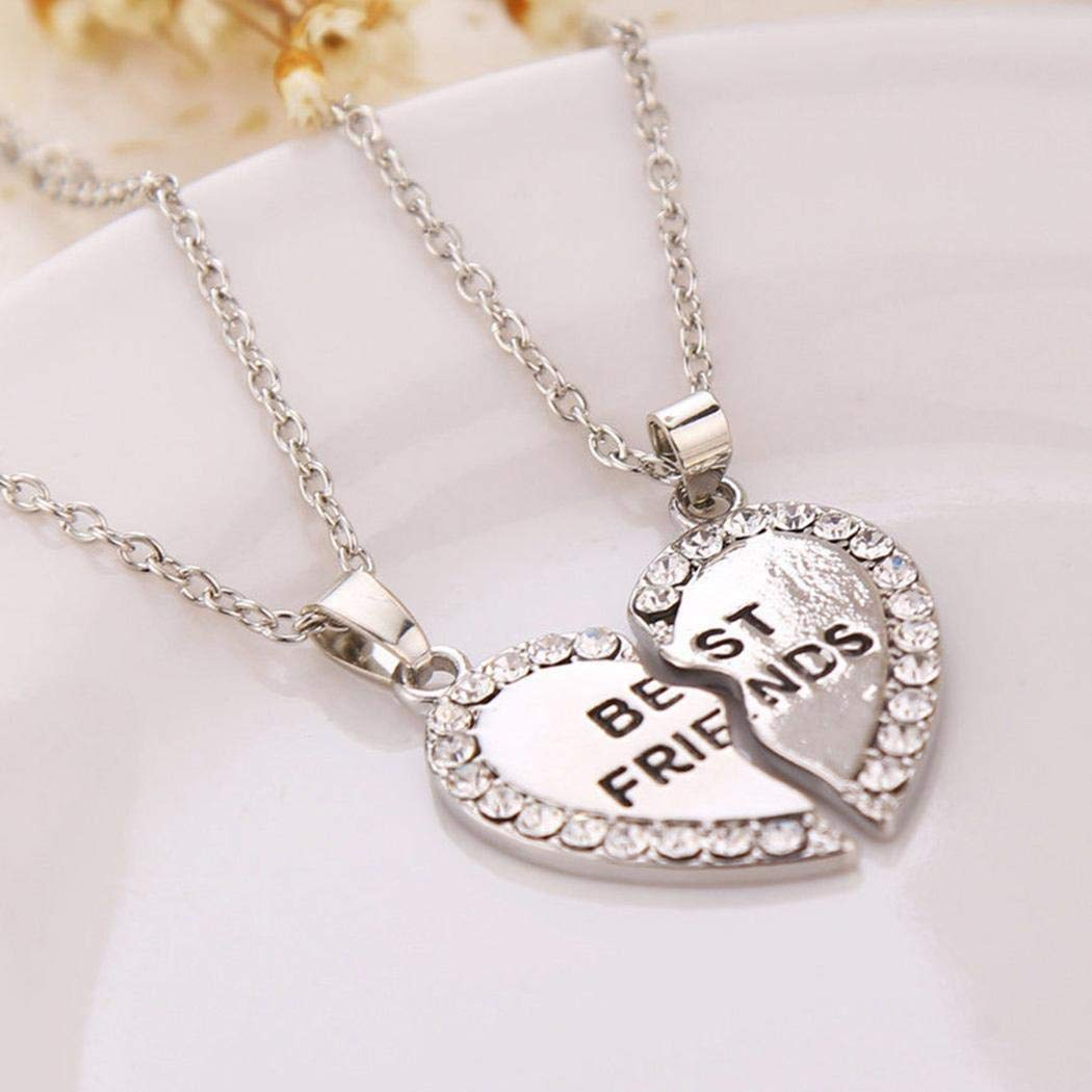 UpBeauty New Fashion Best Friends Charm Chain Heart Shape Pendant Jewelry Necklace Pendant Necklaces