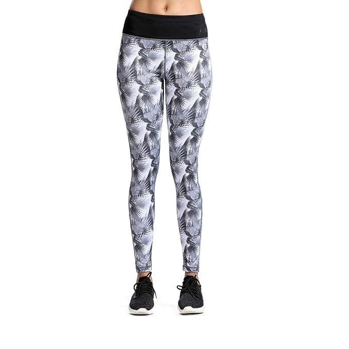 90a35afe4e074 SILIK Pantalones de Entrenamiento Elásticos con Estampado de Malla Leggings para  Mujer  Amazon.es  Ropa y accesorios