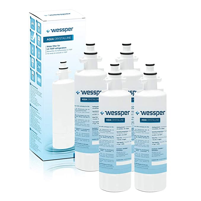 4 x Wessper Aqua Crystalline - Filtro de agua frigorífico ...
