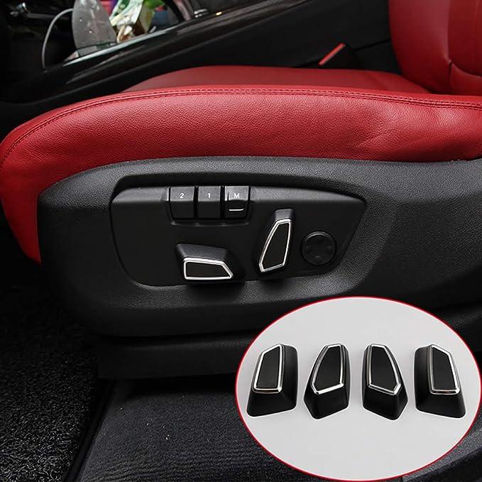Amazon.com: Accesorios de coche ABS ajuste de asiento botón ...