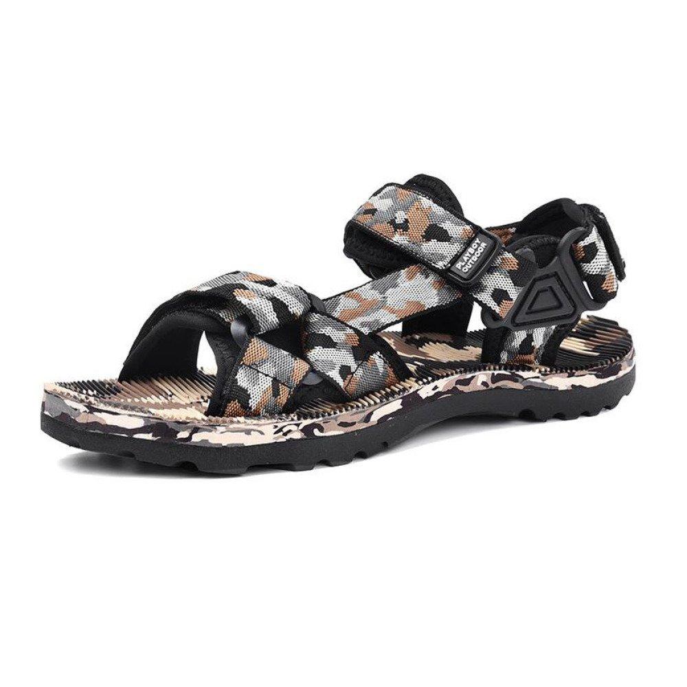 Sandalias De Camuflaje para Hombres, Zapatos De Playa Antideslizantes Transpirables Y Antideslizantes Zapatos De Marea para Jóvenes, Deportivos, Sandalias Casuales 41 EU|Brown