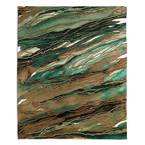 - Dia Noche Fleece Blankets Soft Fuzzy 4 Sizes! by Julia Di Sano Agate Magic Tan Dark Green - Medium 60