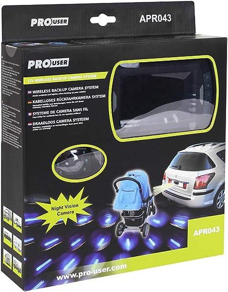 Pro User Apr043 20120 Funk Rückfahrkamerasystem Mit 4 3 Monitor Und Nachtsichtkamera Auto