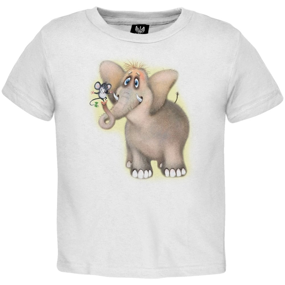 Fuzzy Elephant And Mouse Youth T-Shirt - X-Large(18)