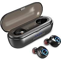 WeCool Moonwalk TWS Bluetooth Earphones True Wireless in Ear Earbuds with Portable Charging Case, 50 Hours of Play time, IPX6 Waterproof, Bluetooth 5.0 Sport Headphones (Black)