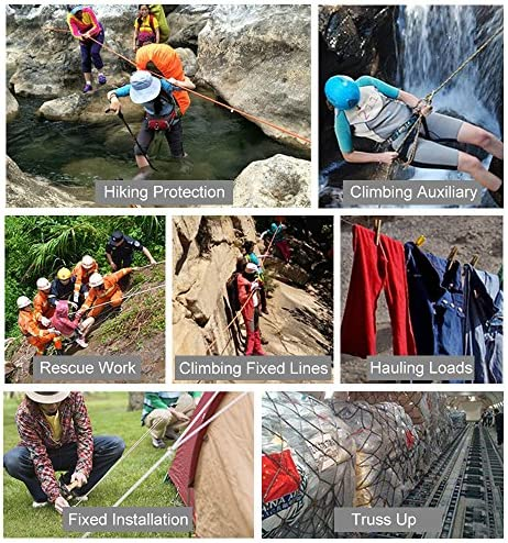 Details about  /Professional Rope Safety Ropes Outdoor Hiking Accessories Rock Climbing Cord