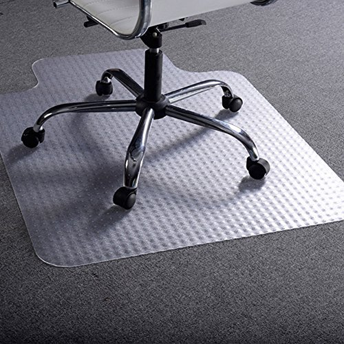 """PVC Chair Mat for Carpet to 1/2"""", 48""""x36"""", Rectangular with Lip. Mat for Office Chair, Floor Mat for Office Chair for Carpet"""