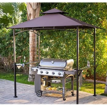 Grill GazeboPatio Gazebo Metal8 X 5 Ft Water Repellant Canopy 4 Leg Steel Frame For The Enthusiast