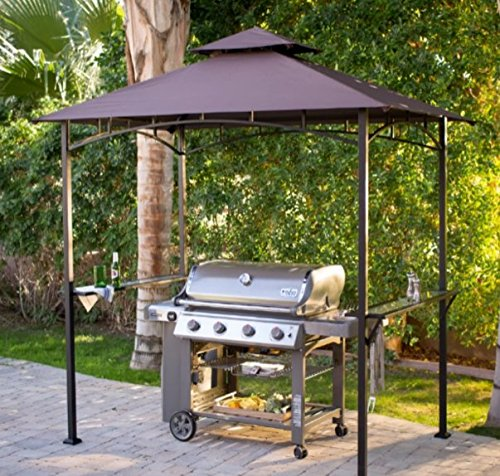Grill Gazebo,Patio Gazebo, Metal,8 x 5 ft Water-Repellant Canopy, 4-Leg Steel Frame-For The Grill Enthusiast . by Coral Coast