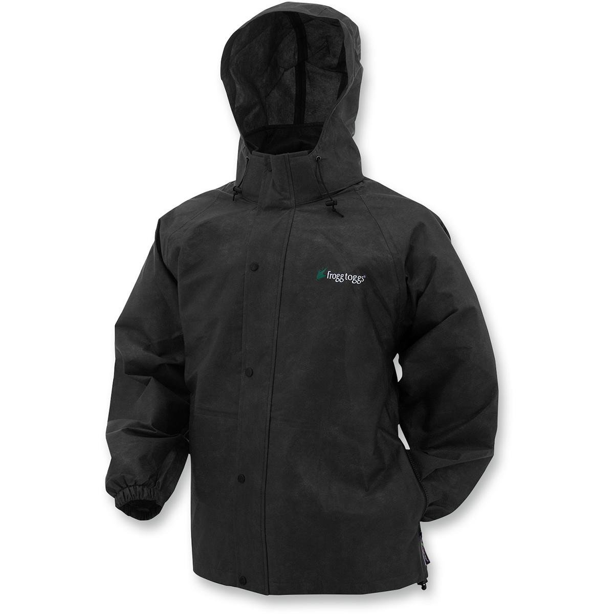 Frogg Toggs Pro Action Rain Jacket, Size: 2XL, Distinct Name: Black, Gender: Mens/Unisex, Primary Color: Black