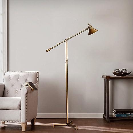 LFFLUODIDENG Ajustable Hierro Bronce Dorado LED lámpara de ...
