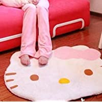 Super Soft Cute Cartoon Hello Kitty Non-Slip Door Mats Soft Children Area Rugs Room Bed Carpet