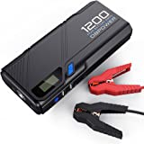 DBPOWER 1200A Peak Portable Car Jump Starter (for 6.5L Gas, 5.2L Diesel Engine and more), Car Battery Booster Pack & Charger, Portable Phone Charger with QC3.0 Built-in LED Emergency Flashlight